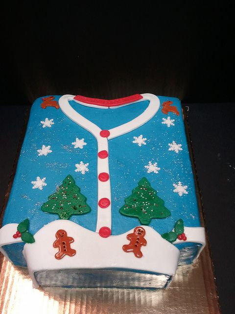 Ugly Sweater Cake by dragosisters, via Flickr