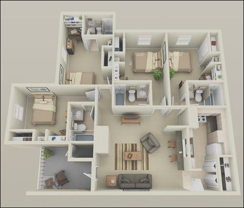 14 Majestic Interior Design For 2 Bedroom Apartment Stock Bedroom House Plans House Design Small House Plans