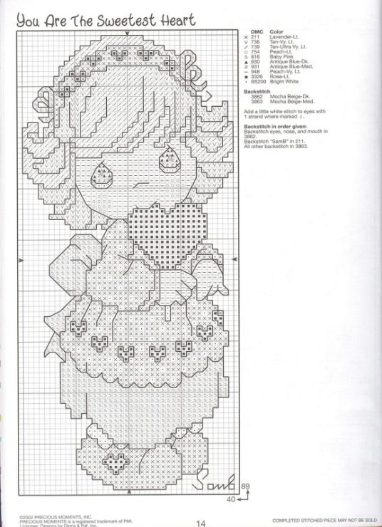 15 free cross stitching patterns for babies.