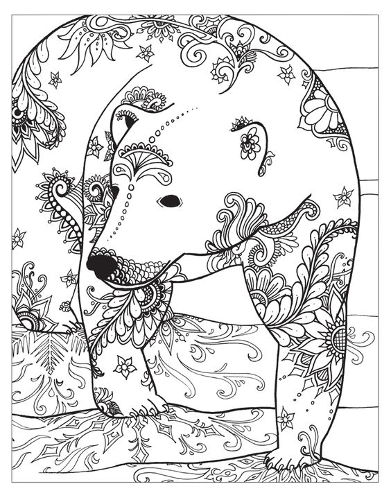 Zendoodle Coloring Winter Wonderland Jodi Best Macmillan Animal Coloring Pages Bear Coloring Pages Coloring Pages Winter