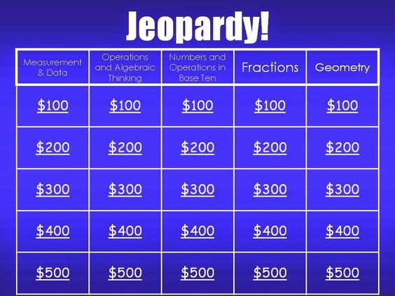 math review 5th grade jeopardy jeopardy games for third grade math reading 1000 images about. Black Bedroom Furniture Sets. Home Design Ideas