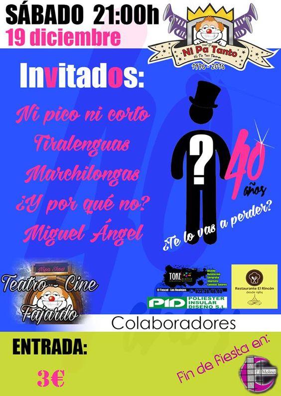 Grupo Mascarada Carnaval: Presentación Ni Pa Tanto 2016