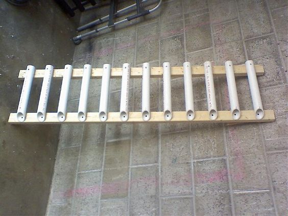 Do it yourself pvc fishing rod holder homemade fishing for Homemade fishing rod storage rack
