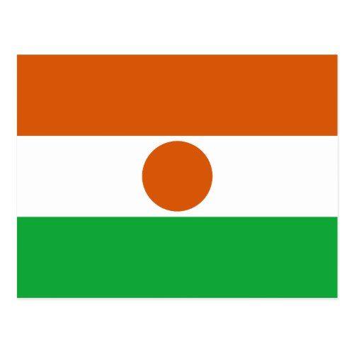 Niger Flag Postcard Zazzle Com In 2020 Niger Flag Personalized Custom Flag