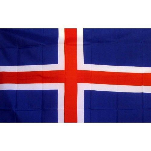 Iceland Country Traditional Flag