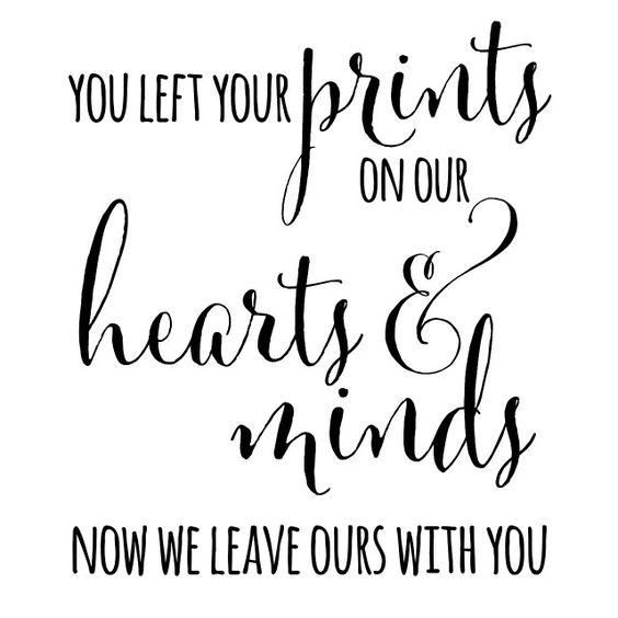"Fingerprint Tree quote: ""You left your prints on our ... |Leave Your Fingerprint Quotes"