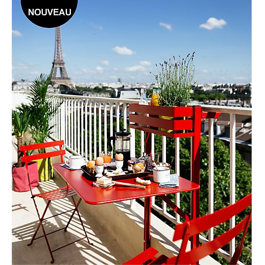 Table rabattable FERMOB Bistro Balcon prix promo Table de Jardin ...