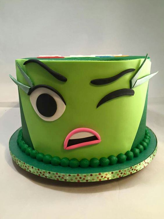 Inside Out inspired cake, her name is Disgust: