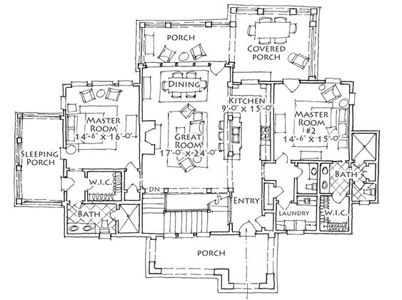 House Plan River Vale Stephen Fuller Inc Lake house
