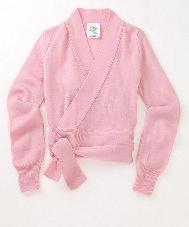 Light Pink Classic Wrap Sweater