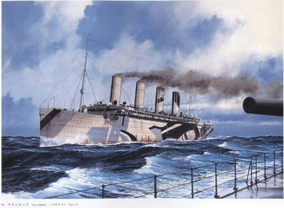 RMS Olympic it took troops going back home during world war II