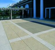 Snow-melt and surface cool your front entry way with a #ThermaPAVER heat exchange system. #solar #BTU #pavers