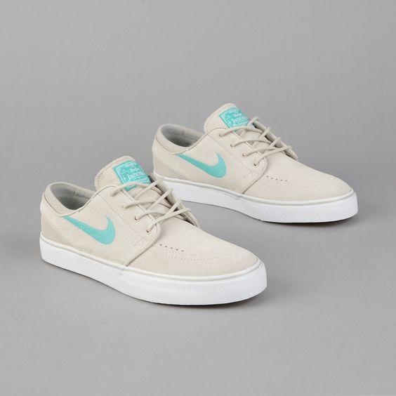 nike dunk chaussures personnalisées - Nike SB Stefan Janoski Platinum Grey/Clear Jade | My Style ...