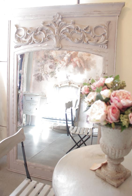 Gorgeous French chic mirror
