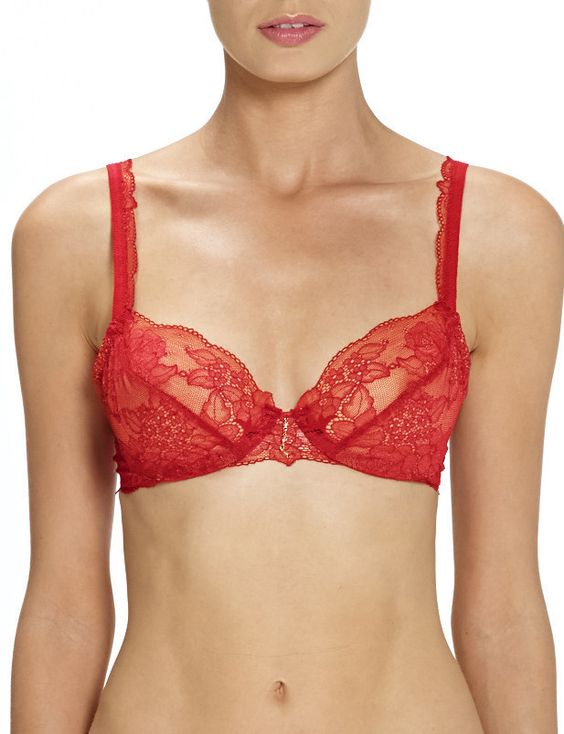 Xia Unlined Bra Fiery Red