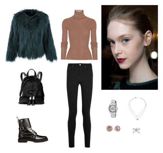 """Без названия #2075"" by gvarjusha ❤ liked on Polyvore featuring TIBI, Balmain, MICHAEL Michael Kors and Michael Kors"