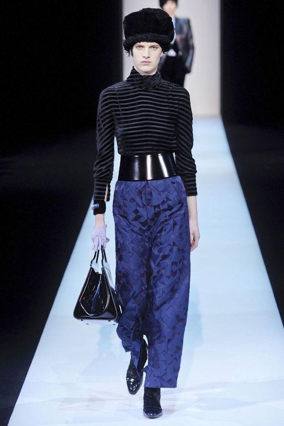 Wide, angled. Giorgio Armani Fall 2013 RTW - Fashion on TheCut