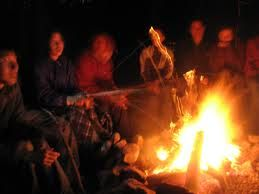 Sharing funny stories filled with love and laughter with family and friends by the campfire, Always! <3