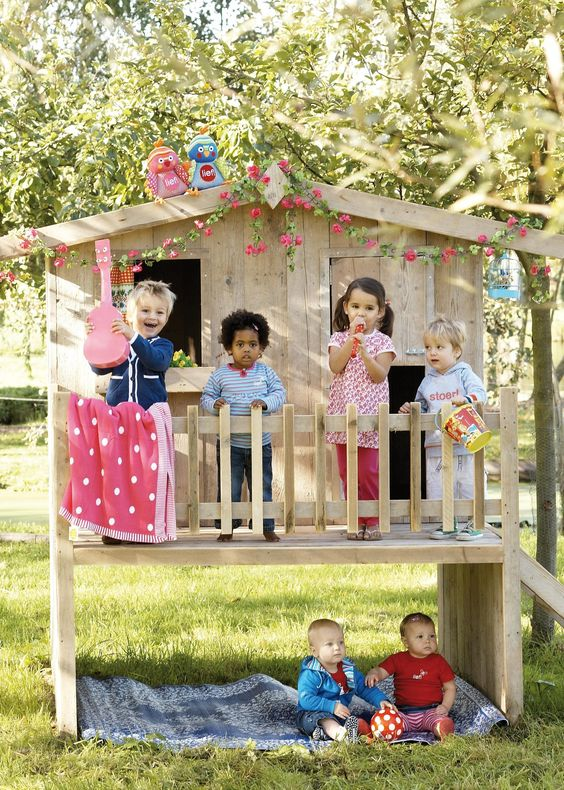 Kids playhouse. Would be awesome if we could raise our playhouse                                                                                                                                                      Plus