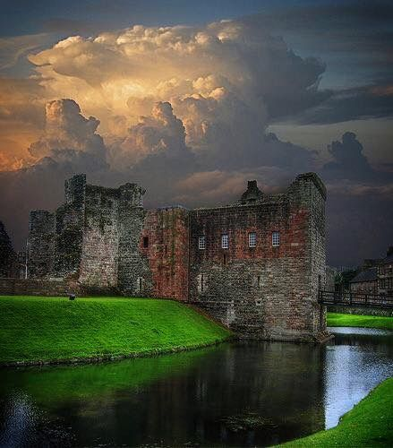 Rothesay Castle ruins in Rothesay, Scotland