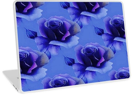 Blue Rose Floral Pattern | Design available for PC Laptop, MacBook Air, MacBook Pro, & MacBook Retina.