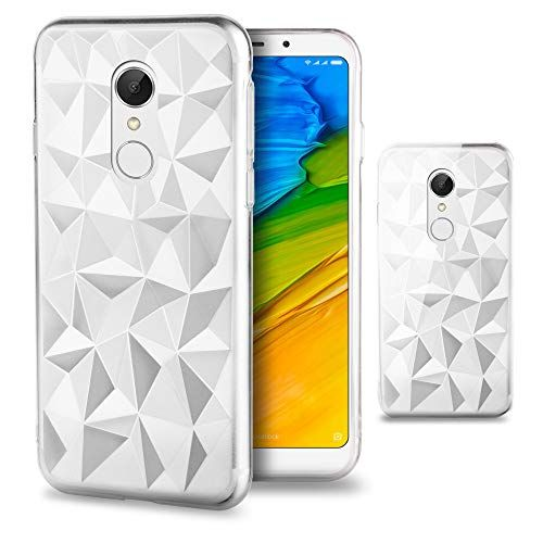 Purchase Options For Xiaomi Redmi 5 Plus Clear Case In This Year Moozy Clear Silicone Case For Xiaomi Redmi 5 Plus With Trendy Geometric