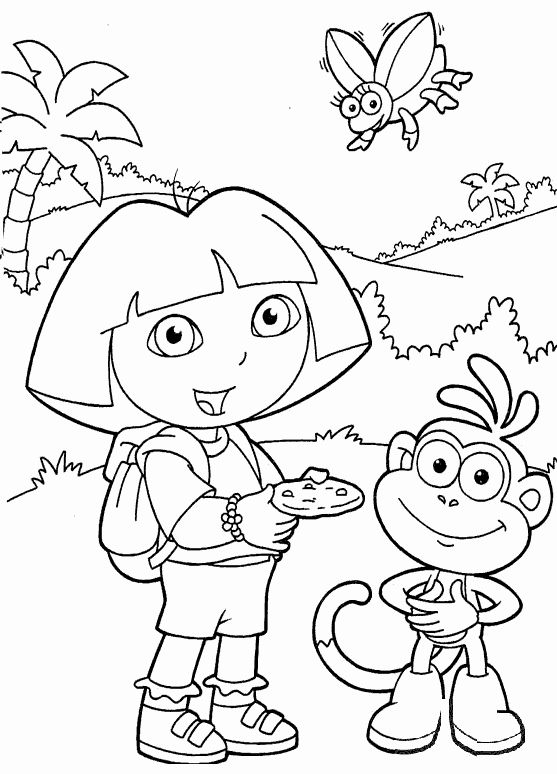 Printable Coloring Book For Kids Lovely Dora Coloring Pages Sheets Dora Coloring Cool Coloring Pages Printable Coloring Book
