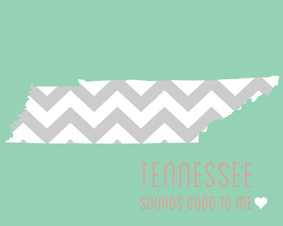 Items Similar To Chevron Tennessee State 8x10 Digital Print On Etsy Tennessee State Of Tennessee Sounds Good To Me