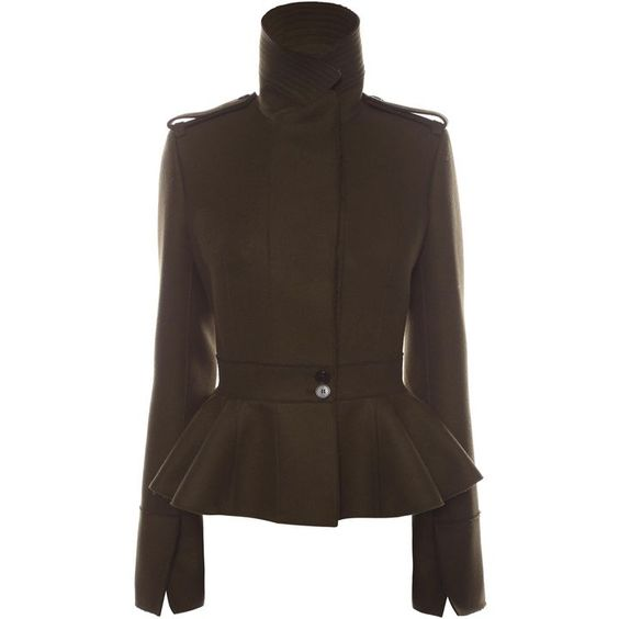 ALEXANDER MCQUEEN | Jackets & Coats | Military Peplum Jacket ...