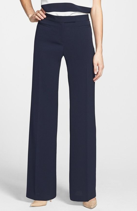 Adrianna Papell Wide Leg Crepe Pants on shopstyle.com
