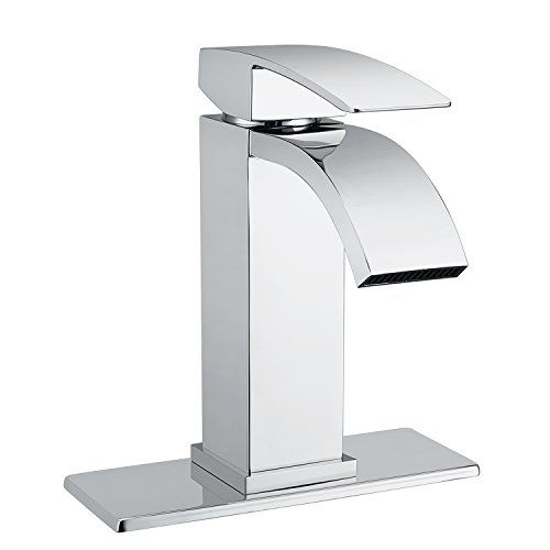 Waterfall Bathroom Sink Faucet Set Doris F001 Single Handle