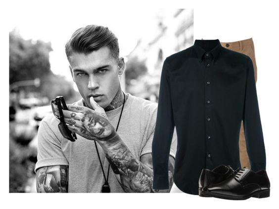 """""""« lucifer »"""" by touchme-loveme ❤ liked on Polyvore featuring Urban Pipeline, Giorgio Armani, Stacy Adams, men's fashion and menswear"""