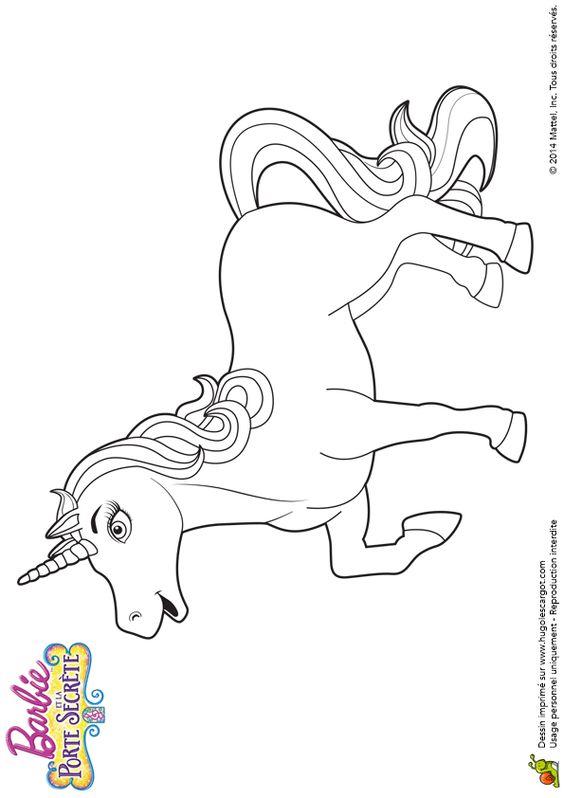 Beau dessin de la reine des licornes colorier - Barbie et la licorne ...