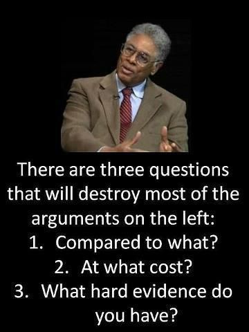 """There are three questions that will destroy most of the arguments on the left…"