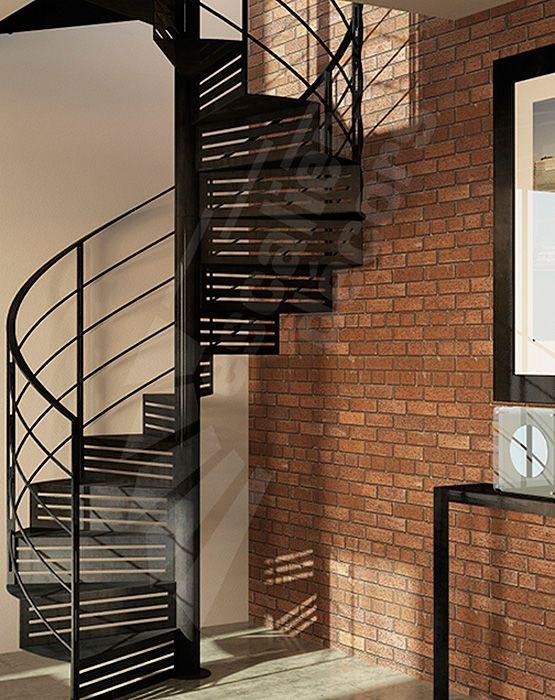 Escalier hélicoïdal en acier avec contremarche type collection ...