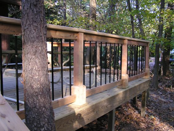decks in trees | Deck in the Woods | Melchior Fros Carpentry