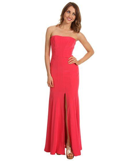 ABS Allen Schwartz Long Strapless Gown w/Front Slit Watermelon ...