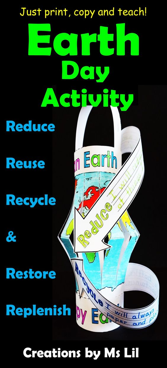 Recycling earth day craft environmental craft earth for Reduce reuse recycle crafts