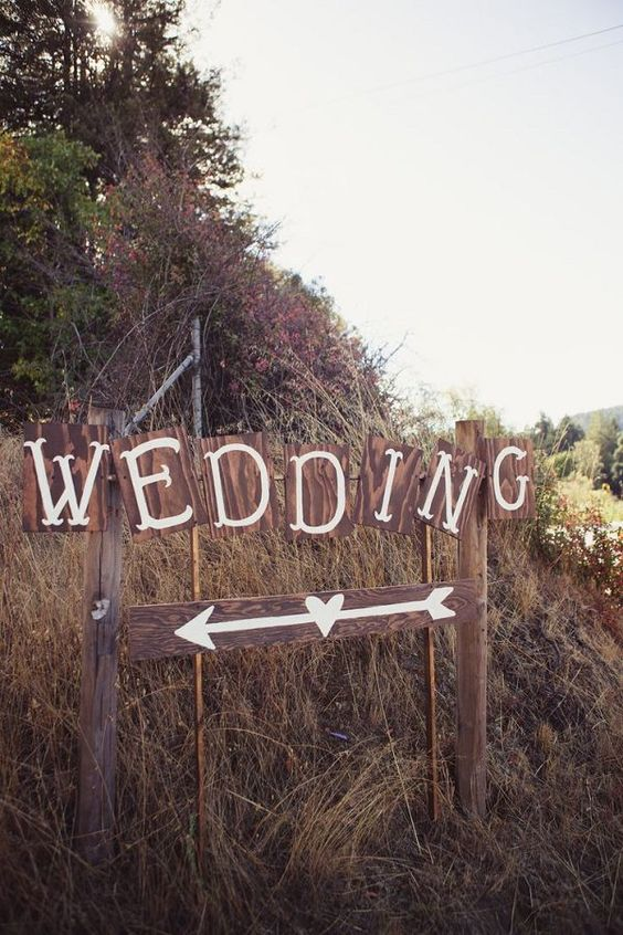 Rustic country wedding signs / http://www.deerpearlflowers.com/rustic-wedding-details-ideas-you-will-love/: