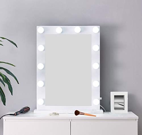 Hompen Vanity Mirror With Lights Makeup Mirror With Dimmable Led