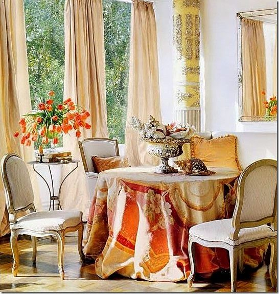 The French Tangerine: ~ antique tapestry: