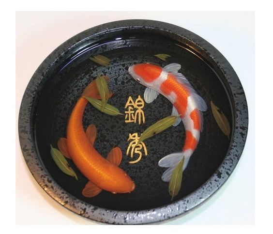 3d large koi painting in resin water inspired by riusuke for Resin koi fish