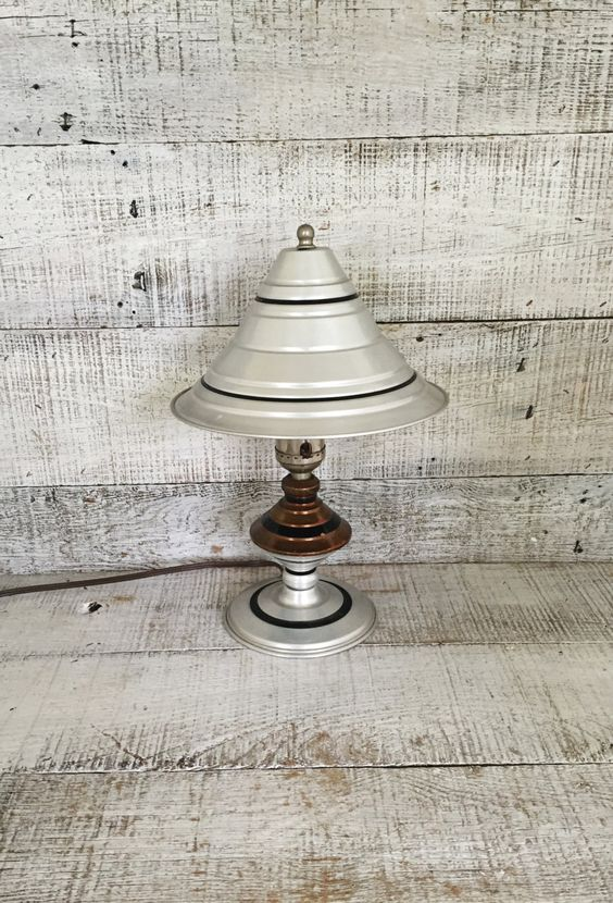 desk lamp tin lamp with shade mid century table lamp metal lamp shade. Black Bedroom Furniture Sets. Home Design Ideas