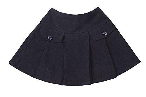 Bienzoe Girls Cotton Stretchy Twill School Uniforms Pocket Pleated Skirt