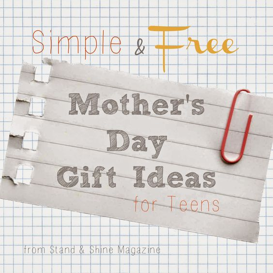 Stand & Shine Magazine: Simple & Free Mother's Day Gift ...