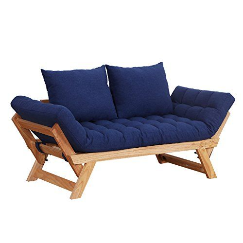 Homcom Single Person 3 Position Convertible Couch Chaise Lounger