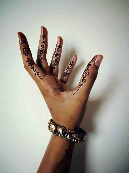 Henna on sides of fingers... <3 henna art by husnaa kajee