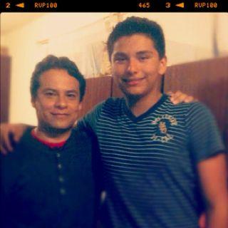 With My nephew!