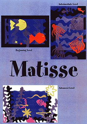 Henri Matisse - His bold use of color and shape in his paper cutouts expose the children to a new medium and style of art.  In their classrooms, the children create masterpiece cutouts of their own using a sea motif.