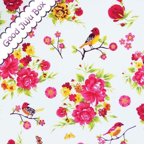 Bellissimi Fiori - Vögel und Blumen - Weiß von Good Juju Box auf DaWanda.com